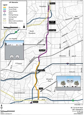 Light Rail map (EIR)